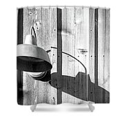 Black And White Barn Fixture 2 Shower Curtain