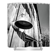 Black And White Barn Fixture Shower Curtain