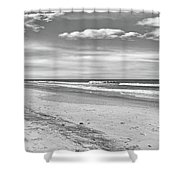 Black And White Beach Shower Curtain