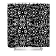 Black And White Boho Pattern 3- Art By Linda Woods Shower Curtain by Linda Woods