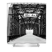 Black And White Bridge Shower Curtain