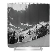 Black And White Brighton Shower Curtain