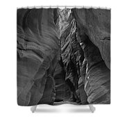 Black And White Buckskin Gulch Shower Curtain