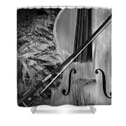 Black And White Classic Shower Curtain