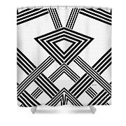Black And White Diamond Shower Curtain