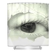 Black And White Eye Shower Curtain