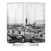 Black And White Florence Italy Shower Curtain