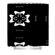 Black And White Flower Abstract Shower Curtain