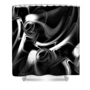 Black And White Fractal 080810a Shower Curtain