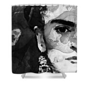 Black And White Frida Kahlo By Sharon Cummings Shower Curtain