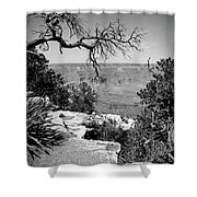 Black And White Grand Canyon 2 Shower Curtain