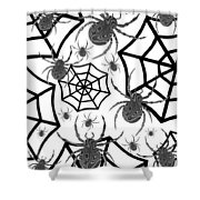Black And White Halloween Shower Curtain