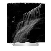 Black And White Hidden Falls Shower Curtain