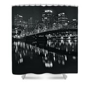 Black And White Lights Shower Curtain