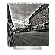 Black And White Lonely Road Shower Curtain