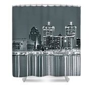 Black And White Louisville Shower Curtain