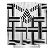 Black And White M Shower Curtain