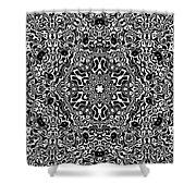 Black And White Mandala 34 Shower Curtain by Robert Thalmeier