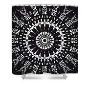 Black And White Mandala No. 1 Shower Curtain