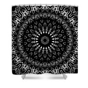 Black And White Mandala No. 2 Shower Curtain
