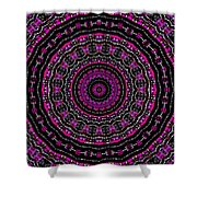 Black And White Mandala No. 3 In Color Shower Curtain by Joy McKenzie