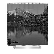 Black And White Medicine Lake Shower Curtain