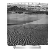 Black And White Mesquite Sand Dunes Shower Curtain