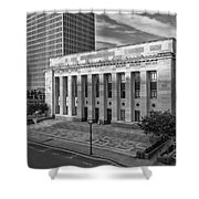 Black And White Of The Tennessee Supreme Court Building In Nashville Tennessee Shower Curtain