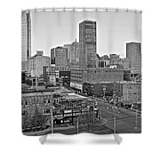 Black And White Okc  Shower Curtain