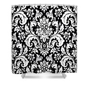 Black And White Paisley Pattern Vintage Shower Curtain