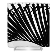 Black And White Palm Branch Shower Curtain