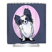 Black And White Papillon Shower Curtain
