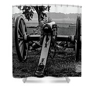 Black And White Photo At The Angle Shower Curtain