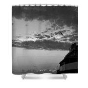 Black And White Pre-sunrise On Daytona Beach Pier  002 Shower Curtain
