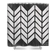 Black And White Quilt Shower Curtain