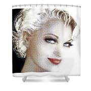Black And White Red Lips Shower Curtain
