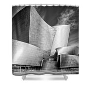 Black And White Rendition Of The Walt Disney Concert Hall - Downtown Los Angeles California Shower Curtain