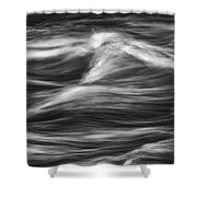 Black And White River Water Abstract  Shower Curtain