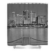 Black And White Riverfront 2017 Shower Curtain