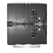 Black And White Rotterdam - The Netherlands Shower Curtain