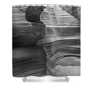 Black And White Sandstone Art Shower Curtain