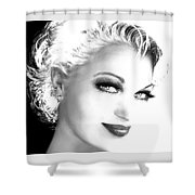 Black And White Smile Shower Curtain