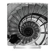 Black And White Spiral Shower Curtain