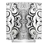 Black And White Symmetry   Shower Curtain