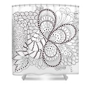Black And White Tangle Shower Curtain