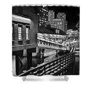 Black And White Tea Party Shower Curtain
