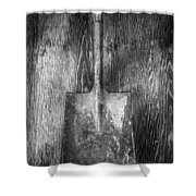 Square Point Shovel 1 Shower Curtain