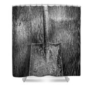 Square Point Shovel 3 Shower Curtain