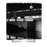Black And White Train Shower Curtain