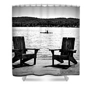 Black And White View Shower Curtain